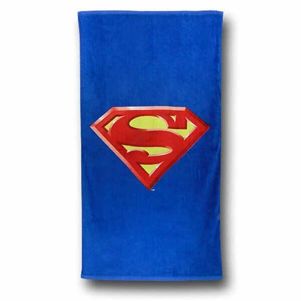 Superman Shield 100% Cotton Beach Towel by Crover